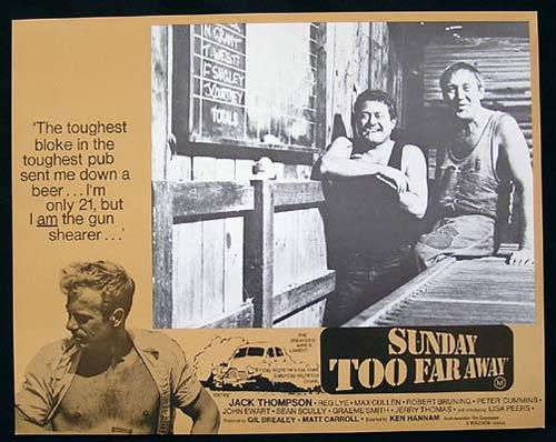 SUNDAY TOO FAR AWAY 1975 Jack Thompson SHEARING Lobby Card 8