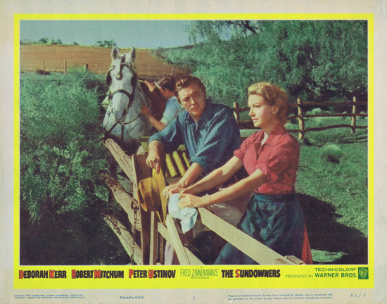 SUNDOWNERS 1960 Deborah Kerr Robert Mitchum US Lobby Card 2