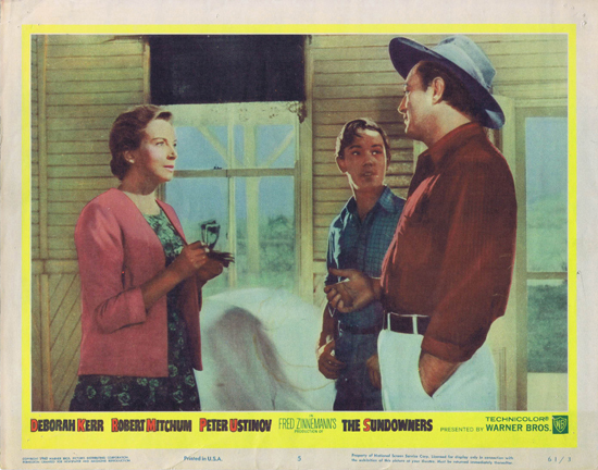 SUNDOWNERS 1960 Deborah Kerr Robert Mitchum US Lobby Card 5