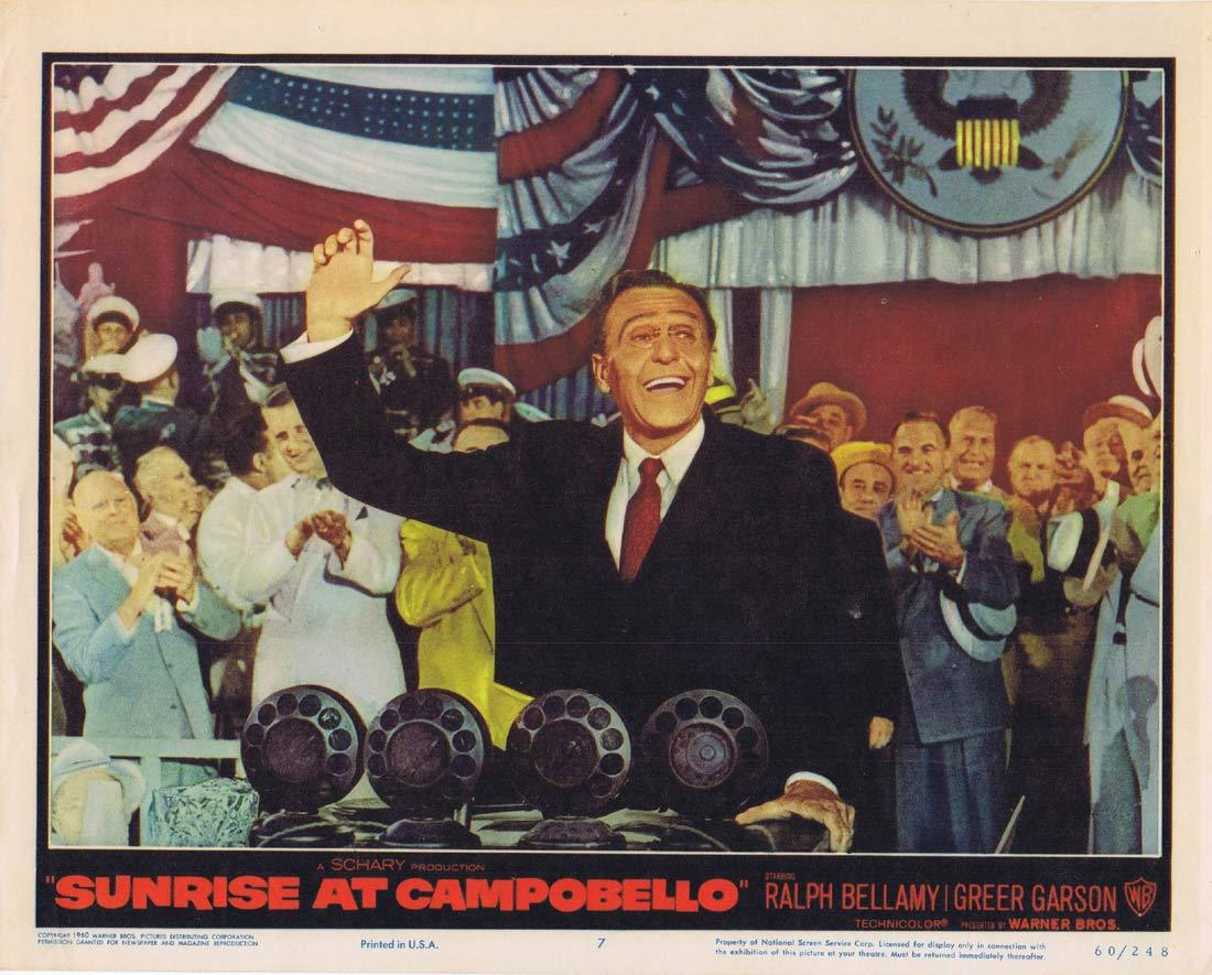 SUNRISE AT CAMPOBELLO Original Lobby Card 7 Ralph Bellamy Greer Garson