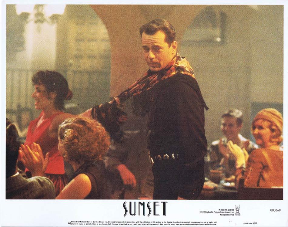SUNSET Lobby Card 6 Bruce Willis Tom Mix Mariel Hemingway