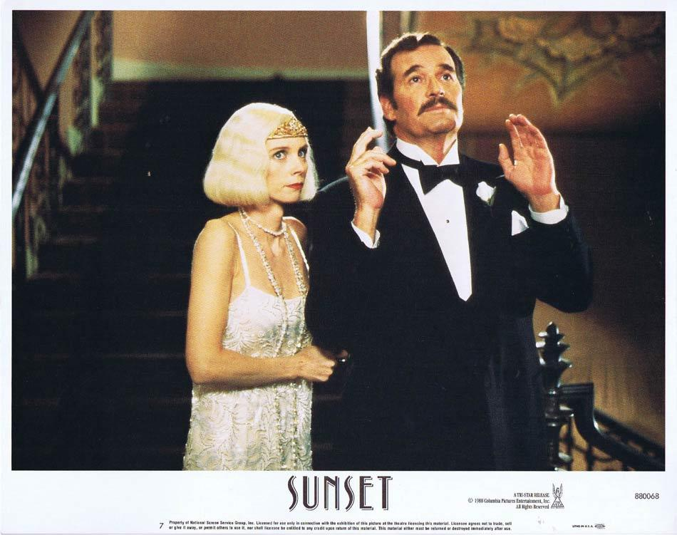 SUNSET Lobby Card 7 Bruce Willis Tom Mix Mariel Hemingway
