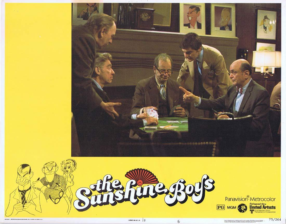 THE SUNSHINE BOYS Lobby Card 6 Walter Matthau George Burns Jane Fonda Donald Sutherland