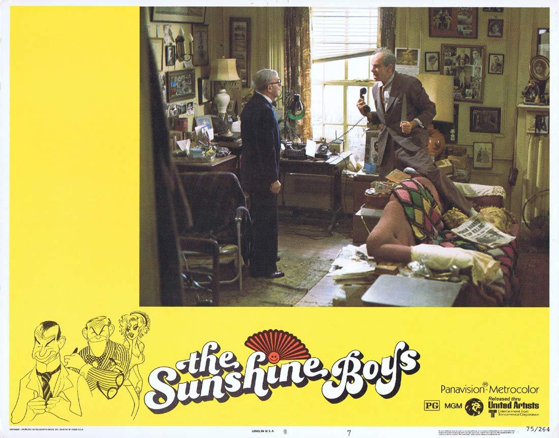 THE SUNSHINE BOYS Lobby Card 7 Walter Matthau George Burns Jane Fonda Donald Sutherland