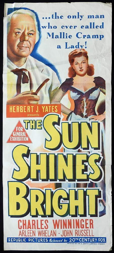 THE SUN SHINES BRIGHT Original Daybill Movie Poster Charles Winninger John Ford