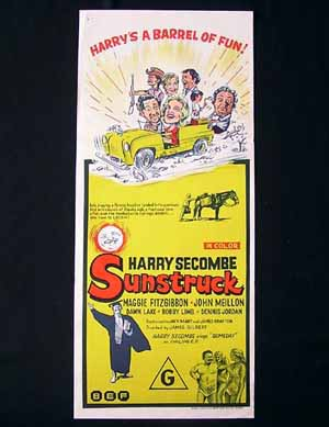 SUNSTRUCK 1972 Harry Secombe Daybill Movie poster