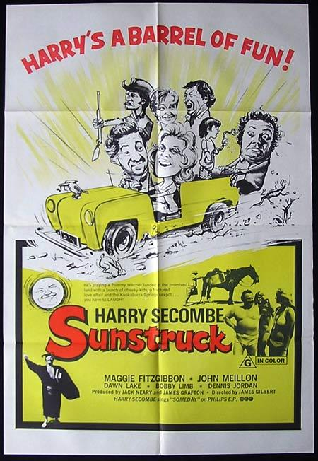 SUNSTRUCK 1972 Harry Secombe One Sheet Movie poster