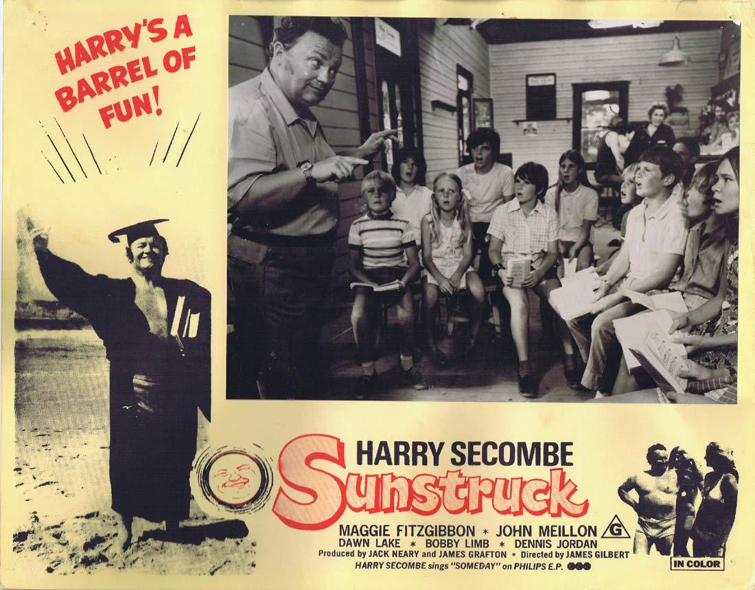 SUNSTRUCK Original Australian Lobby Card 3 Harry Secombe