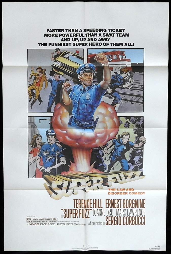 SUPER FUZZ Original US One sheet Movie posterTerence Hill Ernest Borgnine