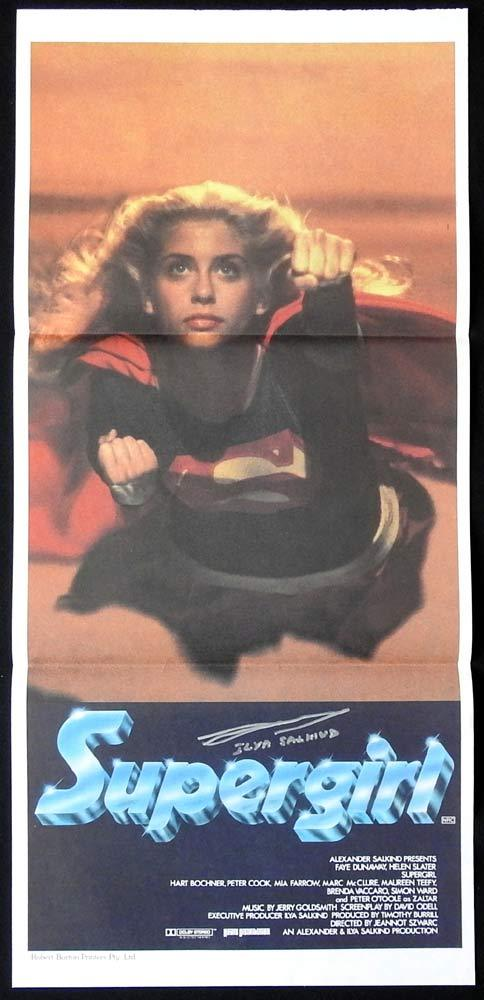 SUPERGIRL Original Daybill Movie Poster ILYA SALKIND Autograph