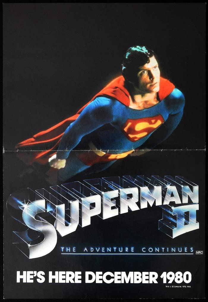 SUPERMAN II Original Daybill Movie Poster Christtopher Reeve Advance Teaser