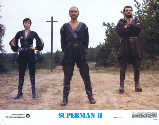 SUPERMAN II 1980 Christopher Reeve ORIGINAL US Lobby Card 4 The Bad Guys