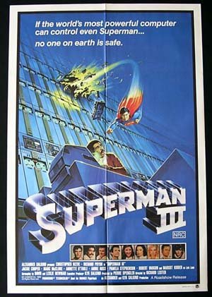 SUPERMAN III Original One sheet Movie Poster Christopher Reeve Richard Pryor