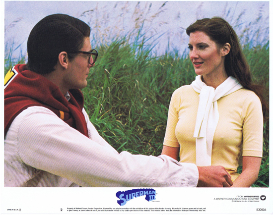 SUPERMAN III 1983 Christopher Reeve ORIGINAL US Lobby Card 2 Clark Kent