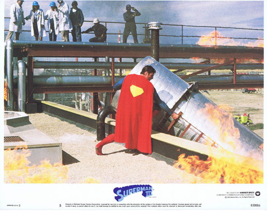 SUPERMAN III 1983 Christopher Reeve ORIGINAL US Lobby Card 5
