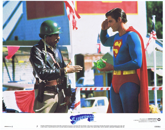 SUPERMAN III 1983 Christopher Reeve ORIGINAL US Lobby Card 7 Richard Pryor