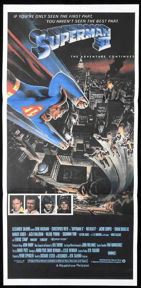 SUPERMAN II Original Daybill poster Christopher Reeve