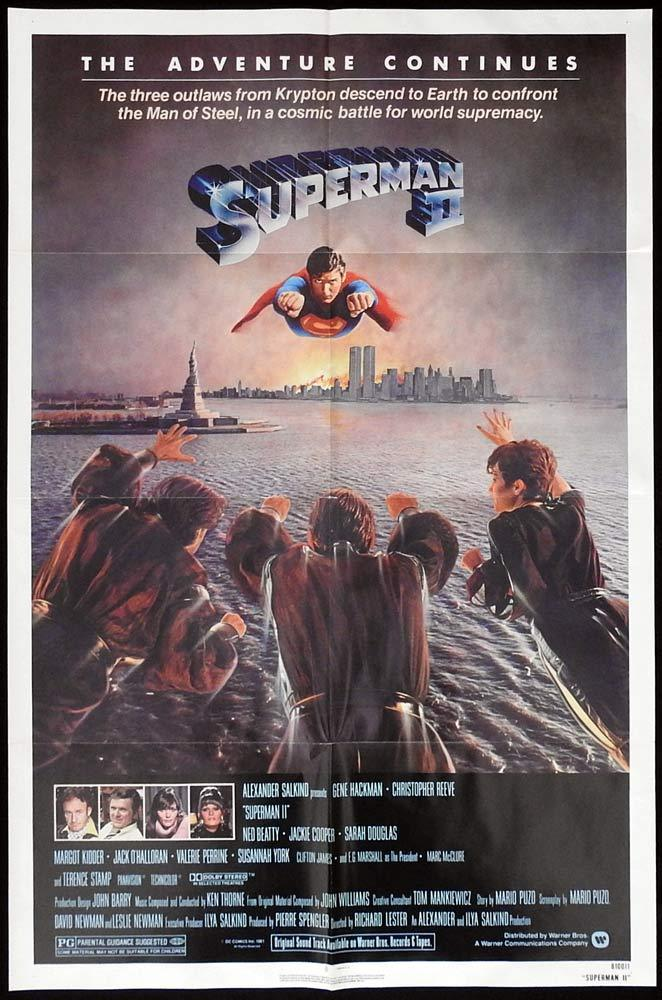 SUPERMAN II Original One sheet Movie poster Christopher Reeve