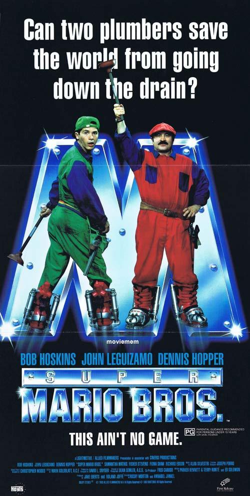 SUPER MARIO BROTHERS Daybill Movie poster Bob Hoskins John Leguizamo