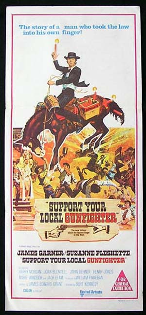 SUPPORT YOUR LOCAL GUNFIGHTER Original Daybill Movie poster James Garner