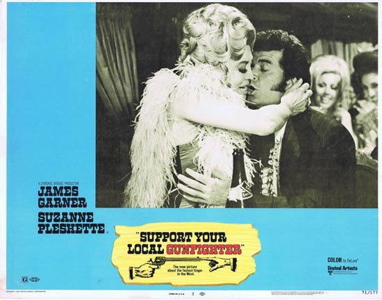 SUPPORT YOUR LOCAL GUNFIGHTER 1971 James Garner US Lobby card 2 Suzanne Pleschette