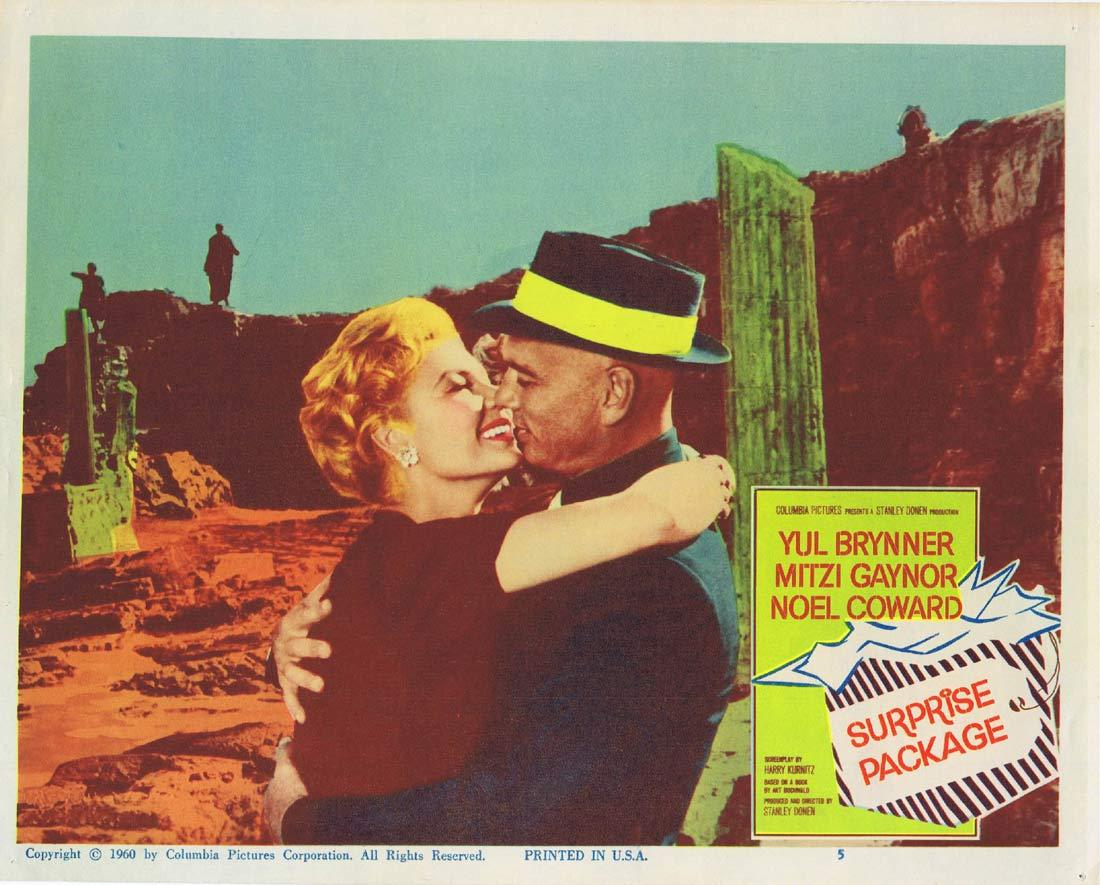 SURPRISE PACKAGE Original Lobby Card 5 Yul Brynner Mitzi Gaynor