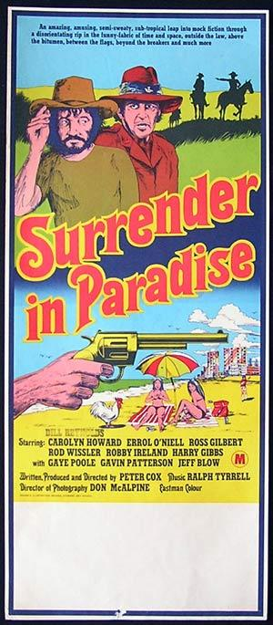 SURRENDER IN PARADISE 1976 Ross Gilbert AUSTRALIAN CINEMA Rare Australian Daybill