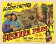 SUSANNA PASS Title Lobby Card Roy Rogers Dale Evans Republic Western