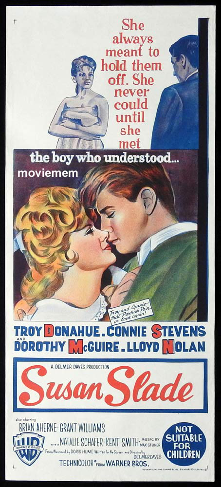 SUSAN SLADE Original Daybill Movie Poster Troy Donahue Connie Stevens