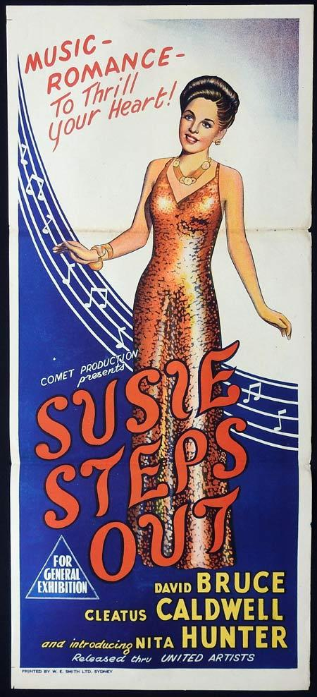 SUSIE STEPS OUT Original Daybill Movie Poster Cleatus Caldwell