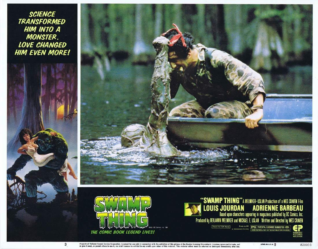 THE SWAMP THING Lobby Card 3 Wes Craven Horror Monster