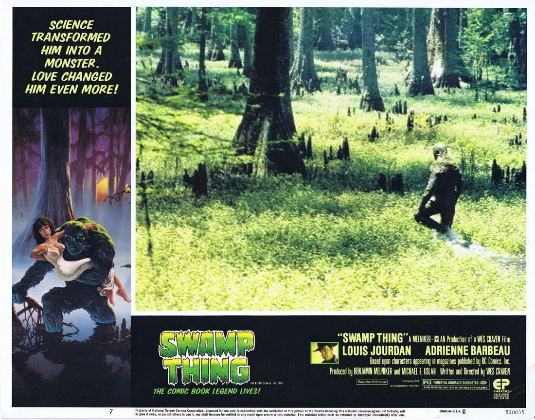 THE SWAMP THING Lobby Card 7 Wes Craven Horror Monster