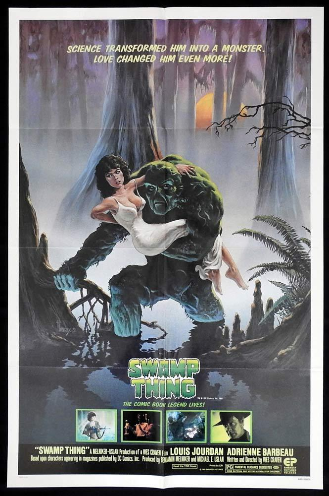 SWAMP THING Original One sheet Movie poster Louis Jourdan Wes Craven