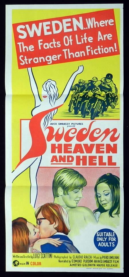 SWEDEN HEAVEN AND HELL Original Daybill Movie Poster