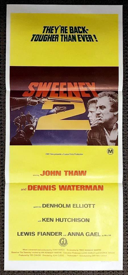 THE SWEENEY 2 Original Daybill Movie Poster Dennis Waterman John Thaw