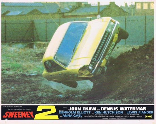 THE SWEENEY 2 1978 Lobby Card 8 John Thaw Dennis Waterman