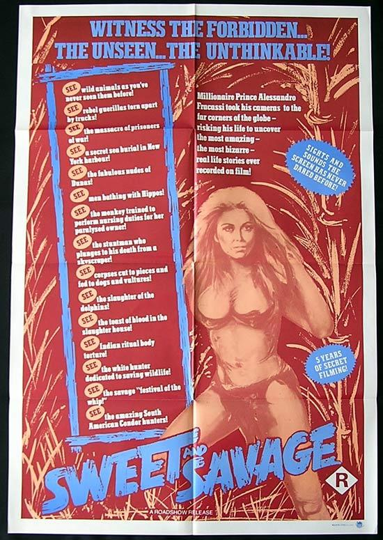 SWEET AND SAVAGE '83 Mondo Documentary 1Sh Movie poster