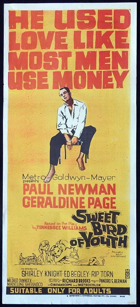 SWEET BIRD OF YOUTH Original Daybill Movie Poster Paul Newman Geraldine Page