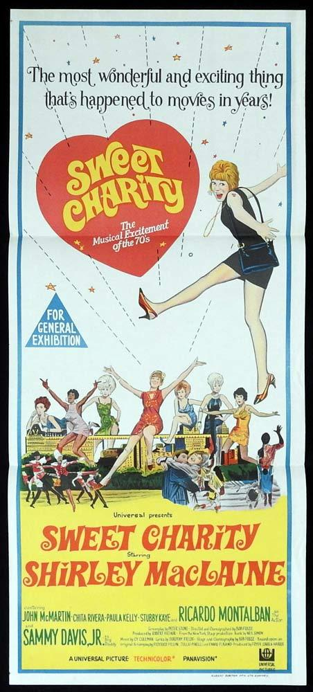 SWEET CHARITY Daybill Movie Poster 1969 Shirley MacLaine