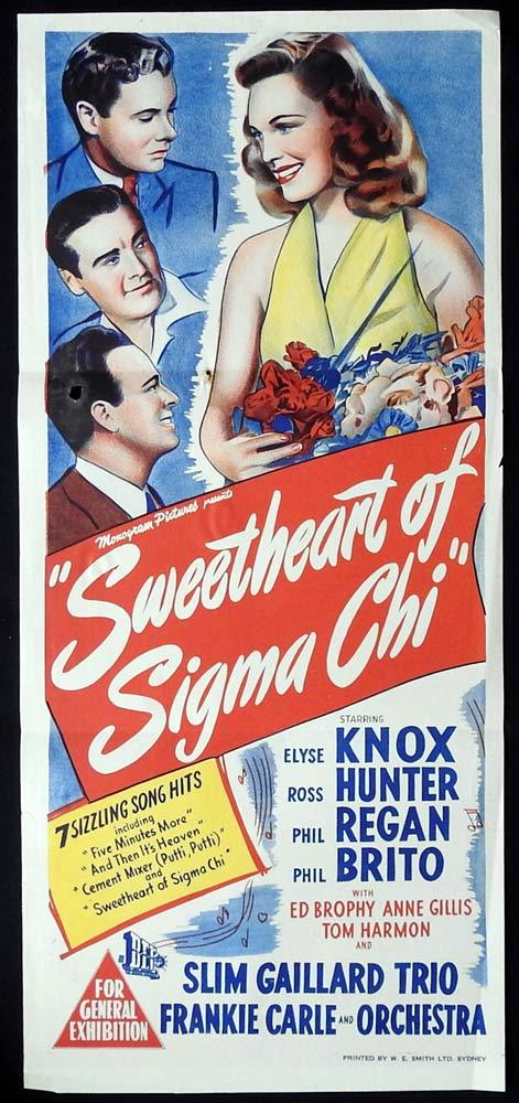 SWEETHEART OF SIGMA CHI Original Daybill Movie poster Elyse Knox Ross Hunter