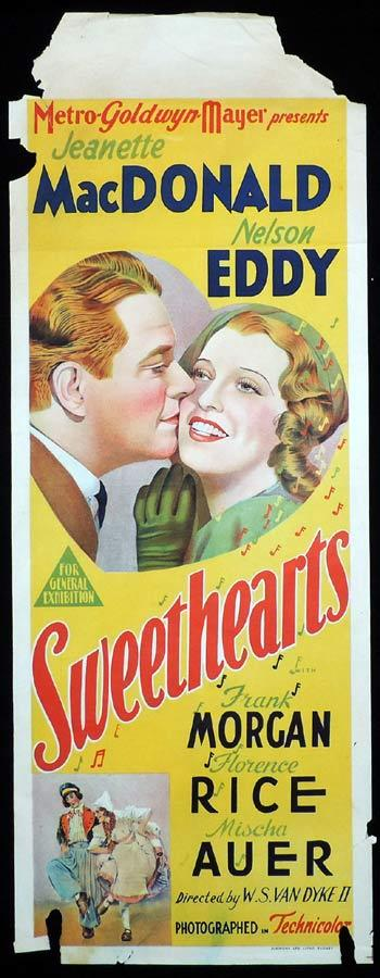 SWEETHEARTS Long Daybill Movie poster 1938 Jeanette MacDonald Nelson Eddy