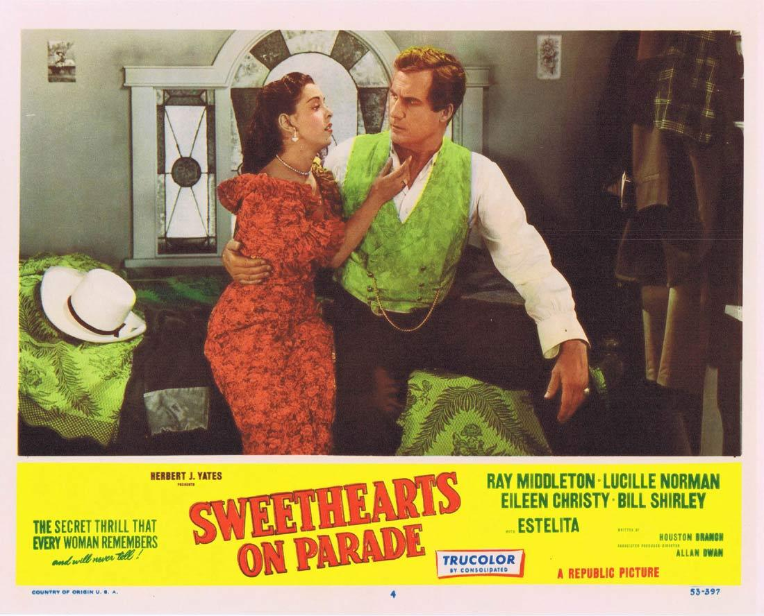 SWEETHEARTS ON PARADE Lobby Card 4 Ray Middleton Lucille Norman Eileen Christy