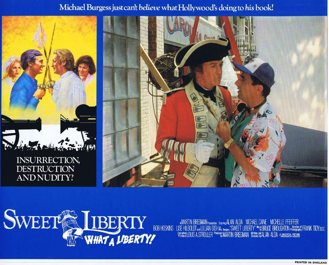 SWEET LIBERTY Original Lobby Card 3 Alan Alda Michael Caine Michelle Pfeiffer
