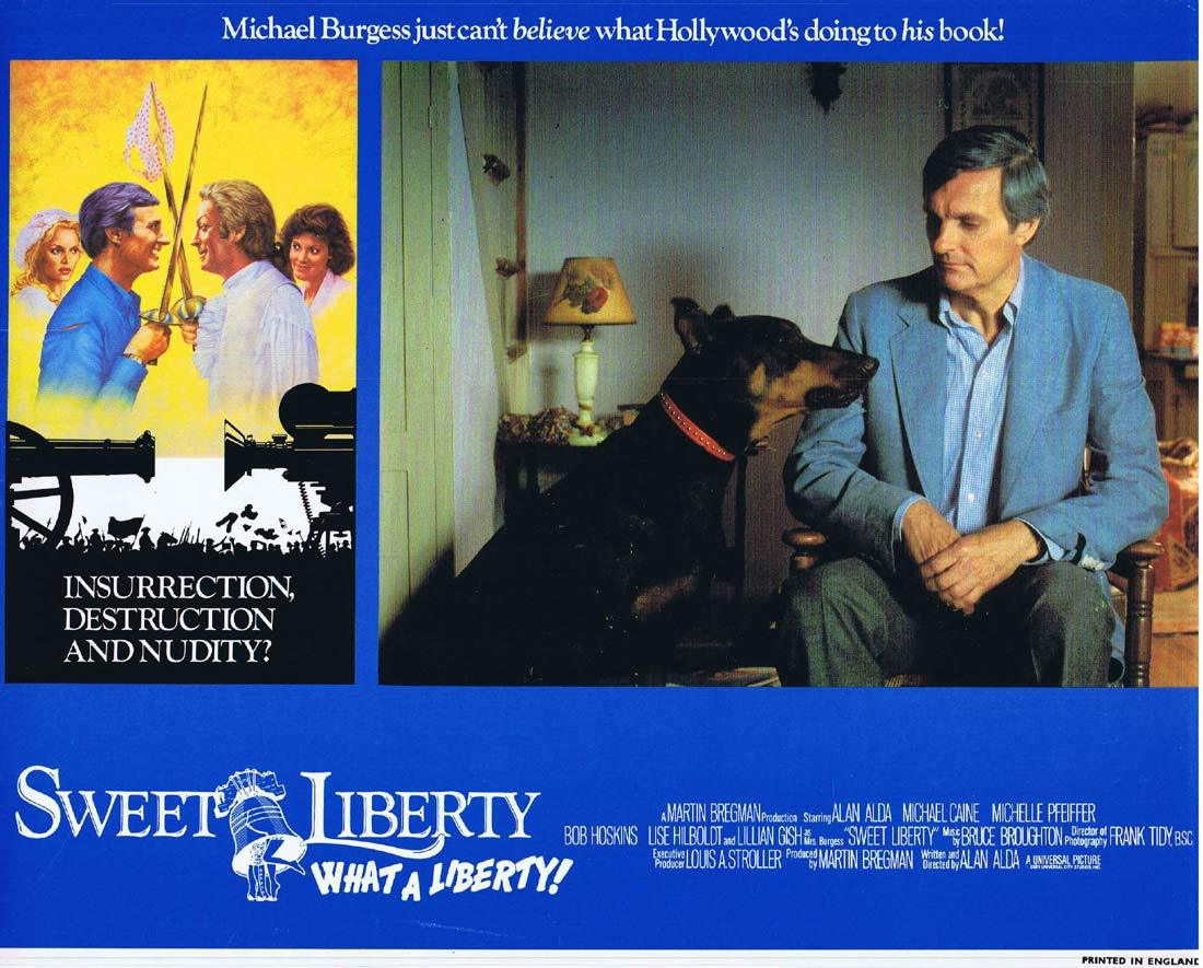 SWEET LIBERTY Original Lobby Card 6 Alan Alda Michael Caine Michelle Pfeiffer