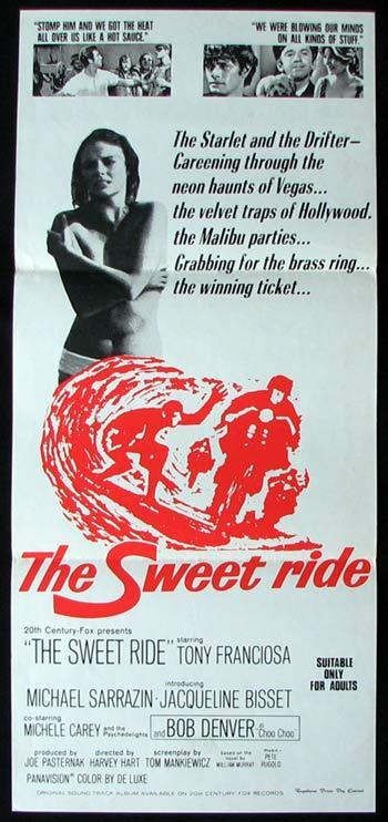THE SWEET RIDE Original Daybill Movie poster Tony Franciosa Surfing