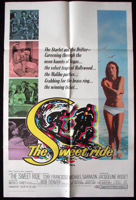 THE SWEET RIDE Original One sheet Movie poster Tony Franciosa Surfing