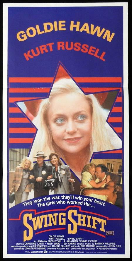 SWING SHIFT Original Daybill Movie Poster GOLDIE HAWN Kurt Russell