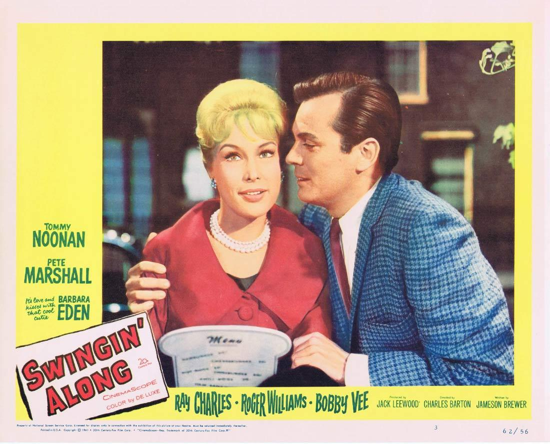 SWINGIN ALONG Lobby Card 3 Tommy Noonan Peter Marshall Barbara Eden