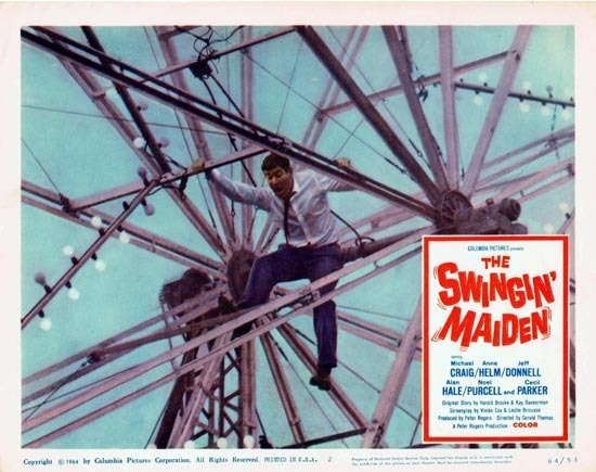 THE SWINGIN MAIDEN 1964 Michael Craig Lobby Card 2 British Comedy