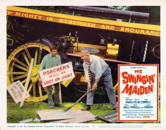 THE SWINGIN MAIDEN 1964 Michael Craig Lobby Card 4 British Comedy